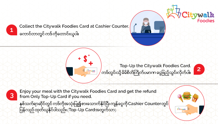 Citywalk Foodies(How to Paid)